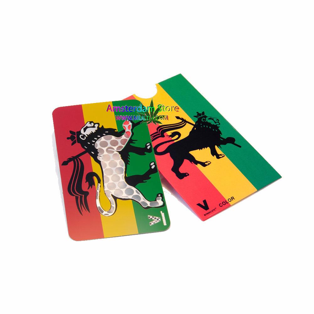 V Syndicate Rasta Lion Design Grinder Card Vg12 Multi